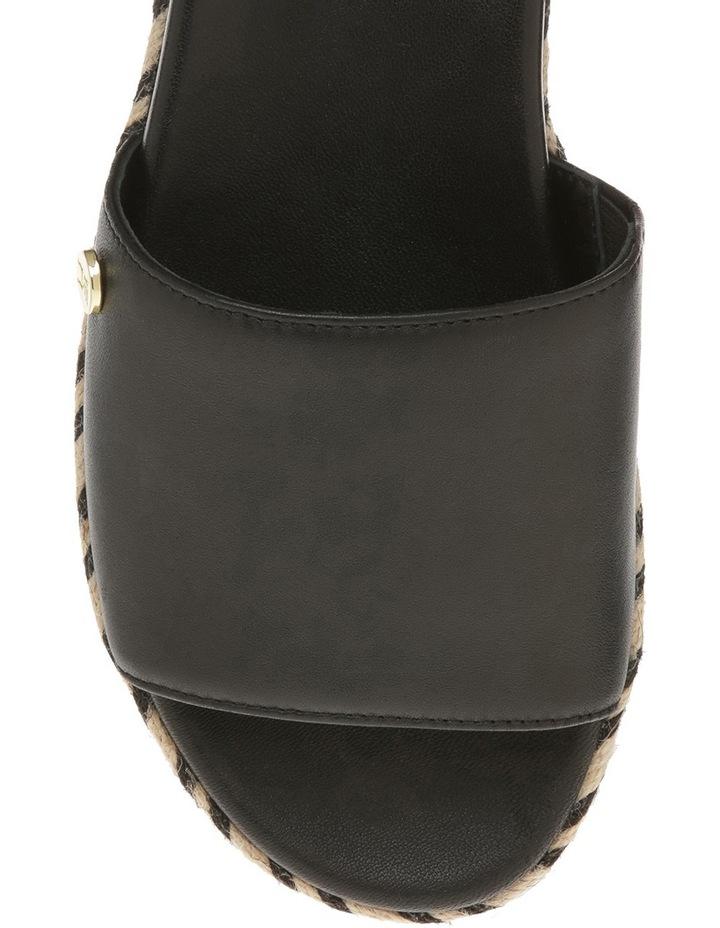 Finella Black Leather Slide image 3