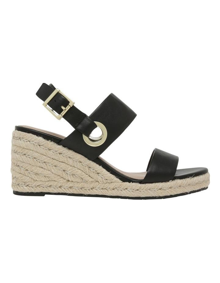 Roslyn Black Leather Sandal image 1