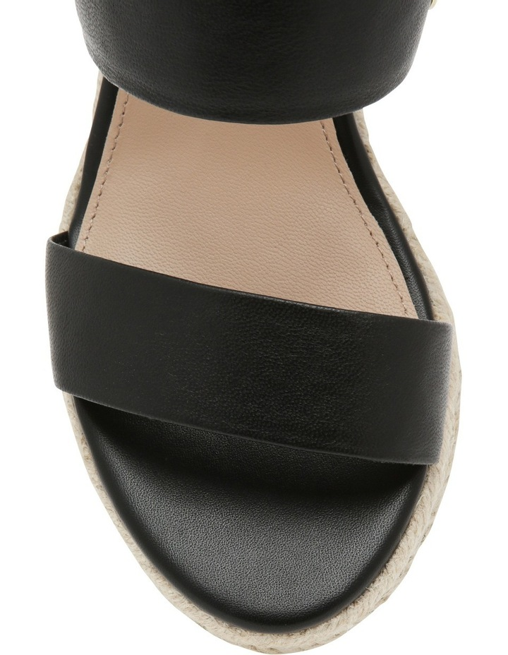 Roslyn Black Leather Sandal image 3
