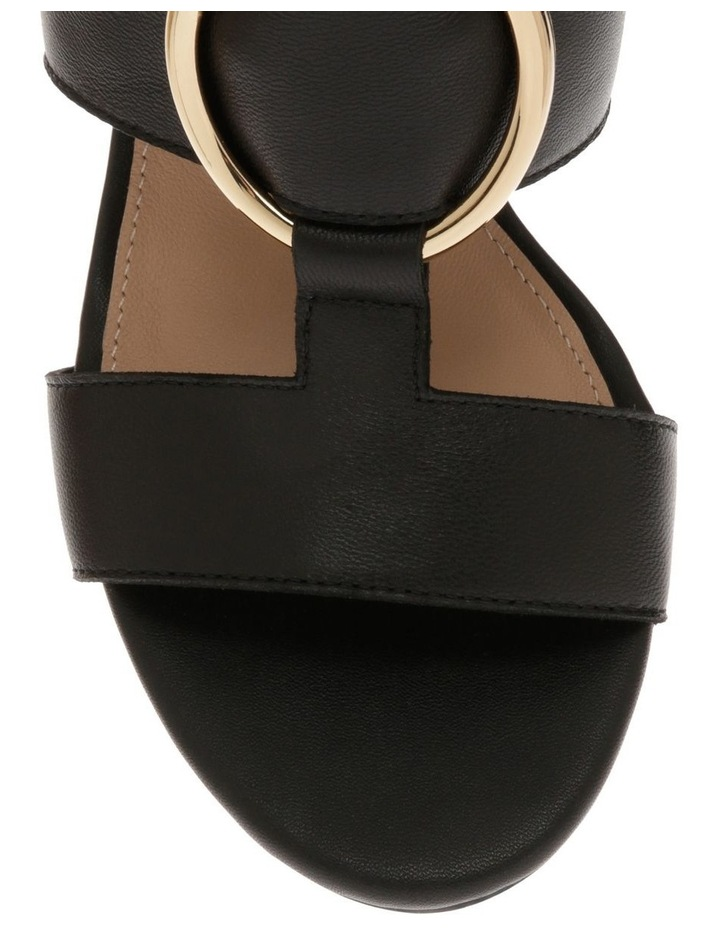 Regina Black Leather Sandal image 3