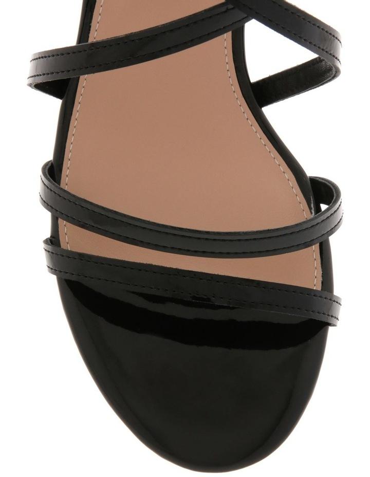 Renata Black Patent Leather Sandal image 2