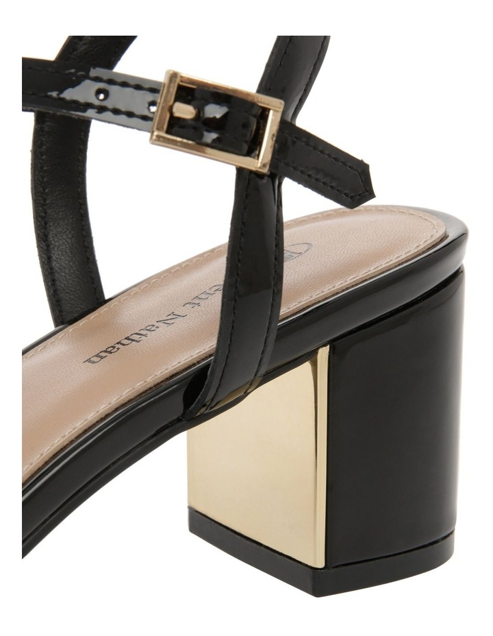Renata Black Patent Leather Sandal image 4