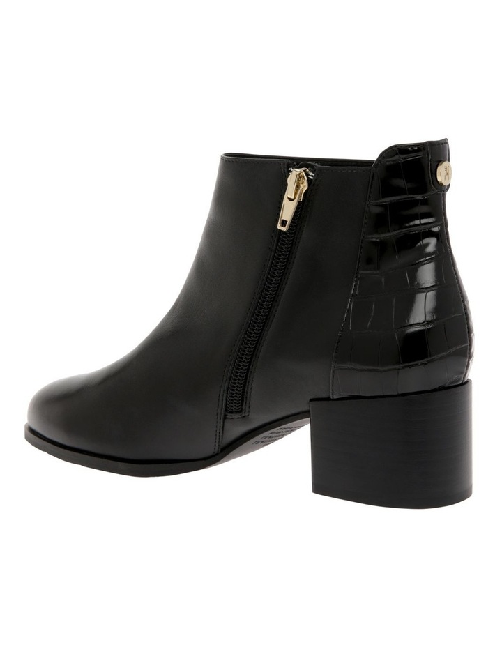 Christa Black Cow Leather Boot image 3