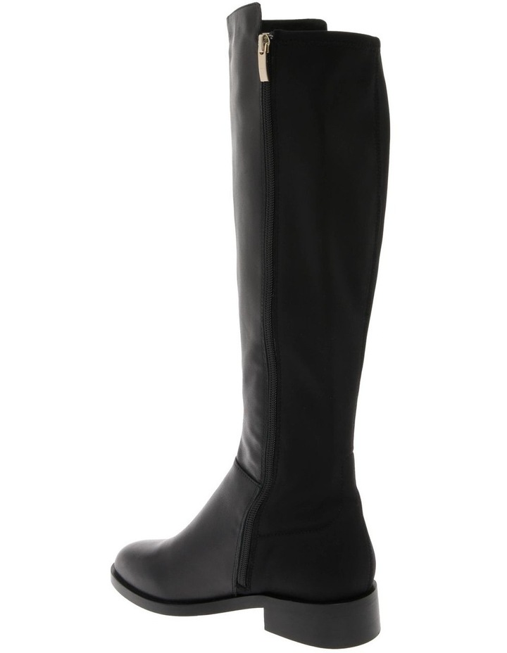 Leigh Black Cow Leather Boot image 3