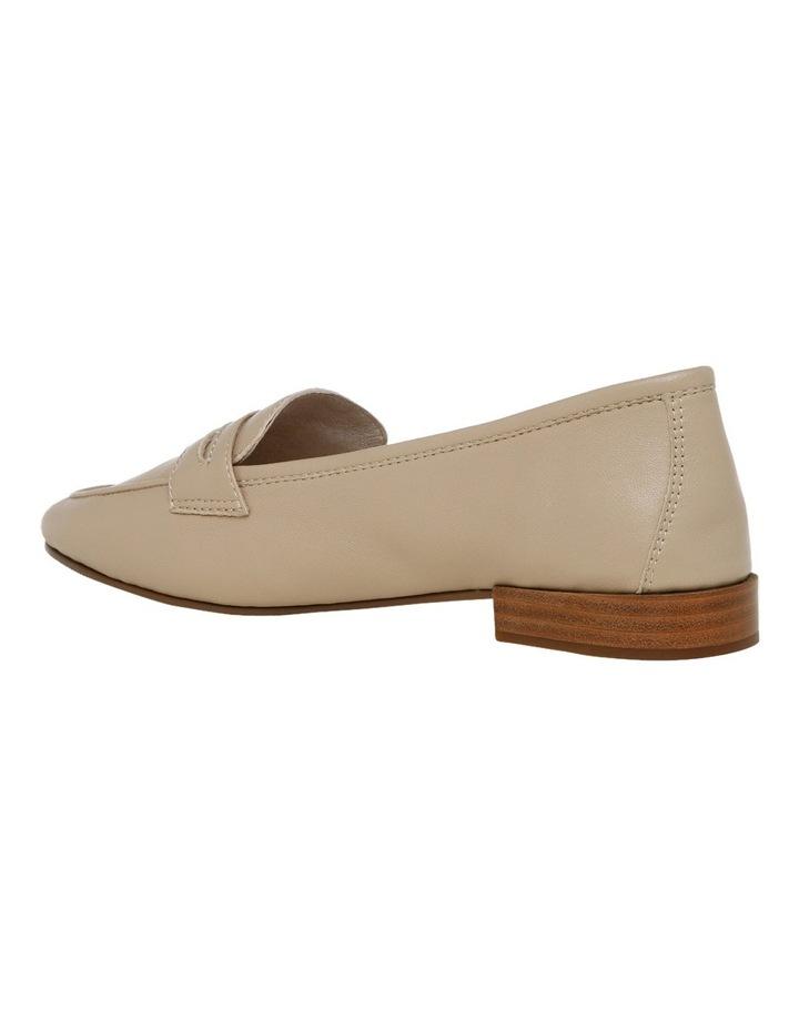 Carmel Beige Leather Loafer image 3