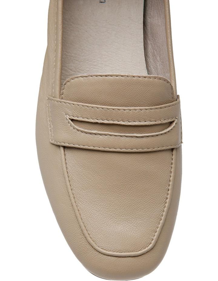 Carmel Beige Leather Loafer image 4