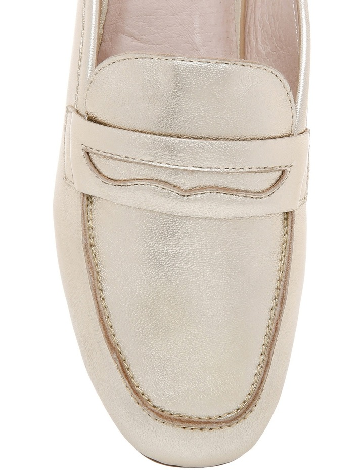 Carina Gold Leather Loafer image 3