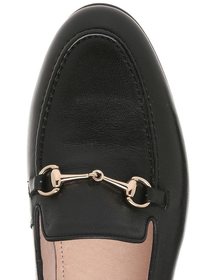 Harry Black Leather Flat image 3