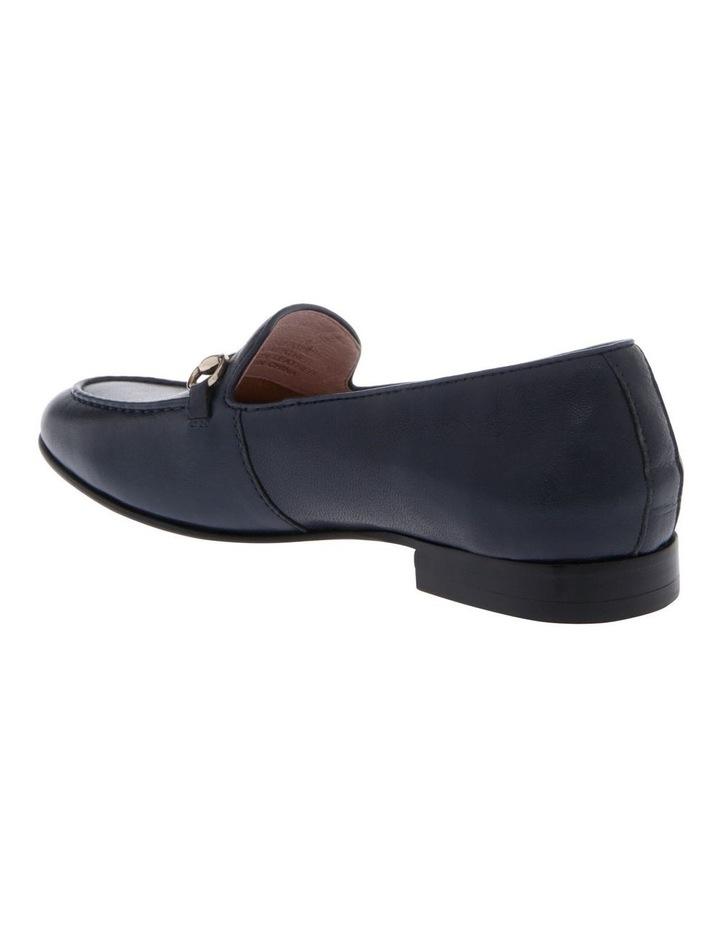 Harry Navy Leather Flat image 2