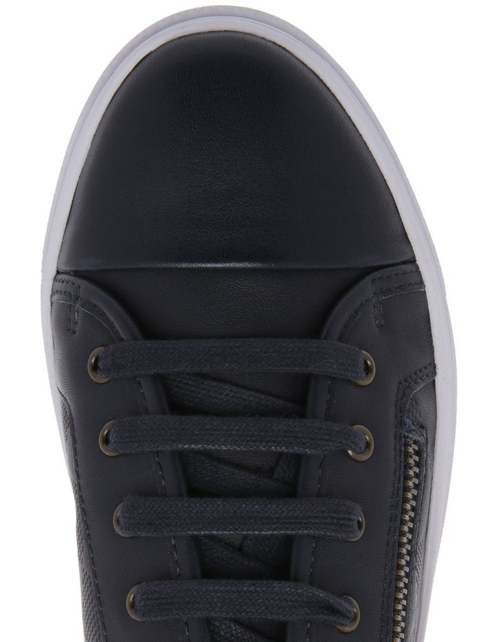Campbell Navy Leather Sneaker image 3