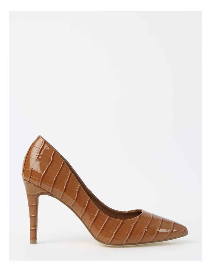 Bella Tan Croc Heeled Shoes image 1