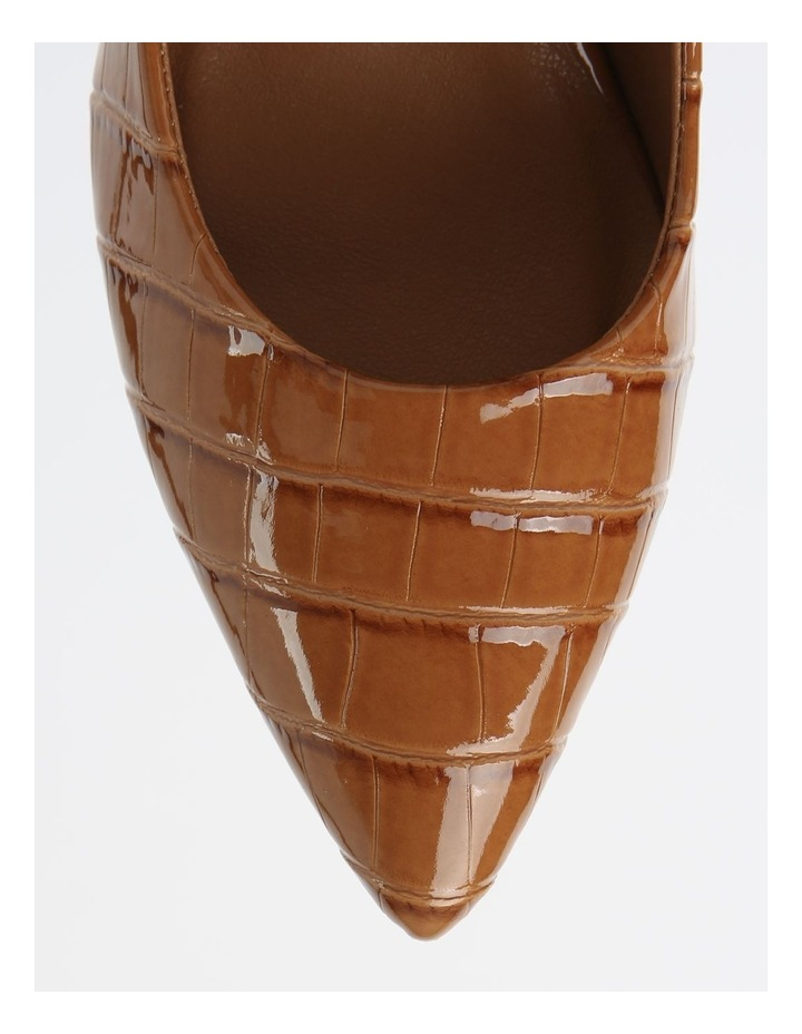 Bella Tan Croc Heeled Shoes image 2