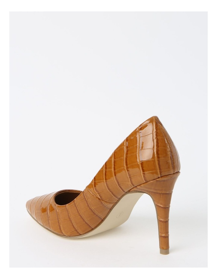 Bella Tan Croc Heeled Shoes image 3