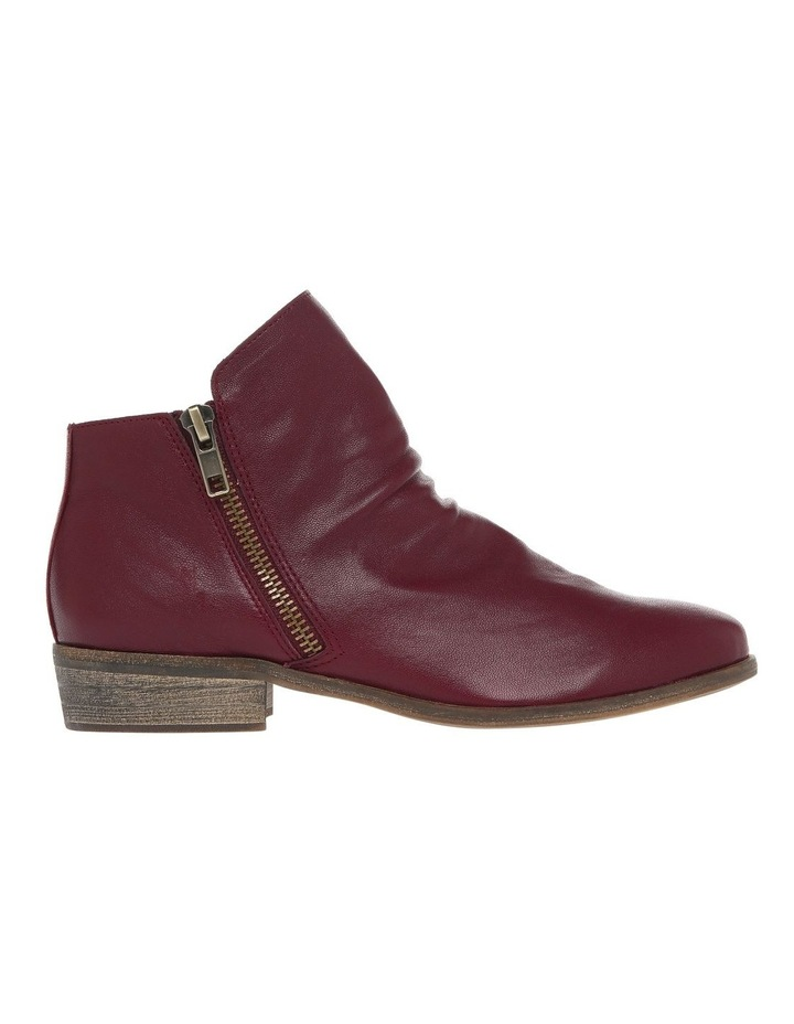 Zoe Burgundy Leather Boot image 1