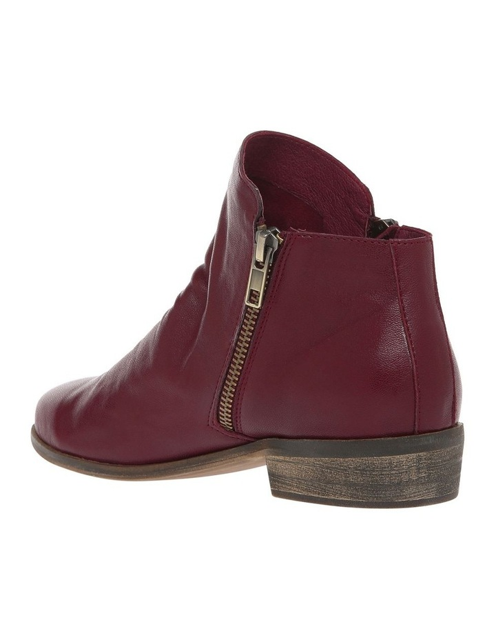 Zoe Burgundy Leather Boot image 2