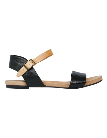 0858284bc5b1 Zazou Jungle Black Tan Strap Sandal
