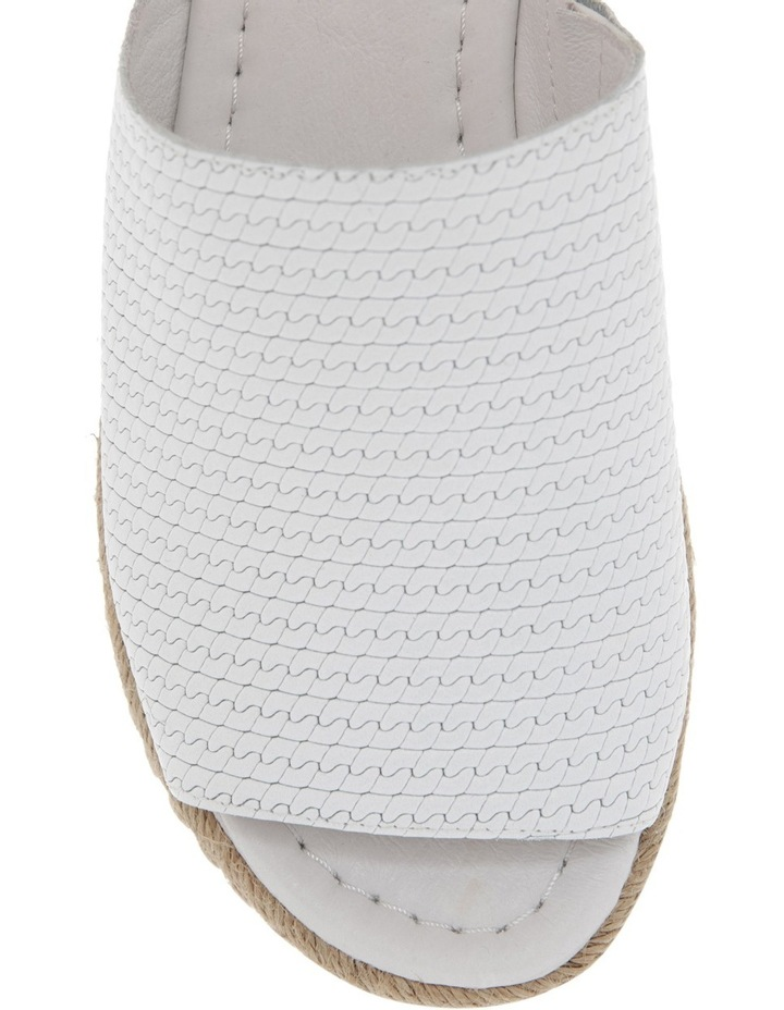 Alvie White Leather Sandal image 3