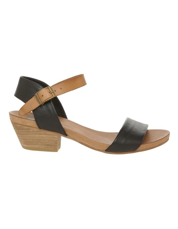 Connie Black Leather Sandal image 1