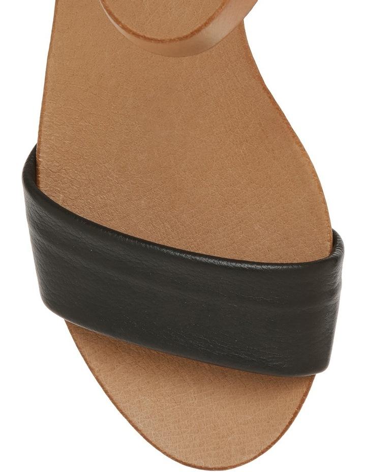 Connie Black Leather Sandal image 3