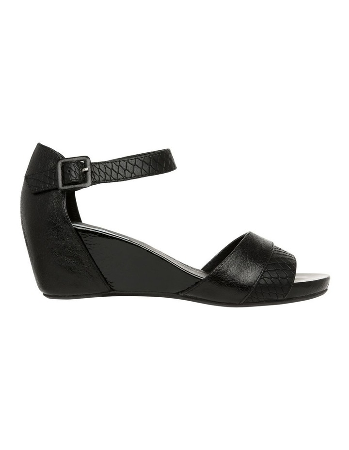 Gabi Black Leather Sandal image 1