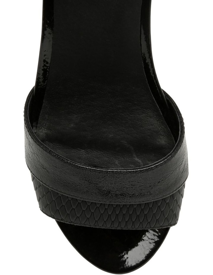 Gabi Black Leather Sandal image 3