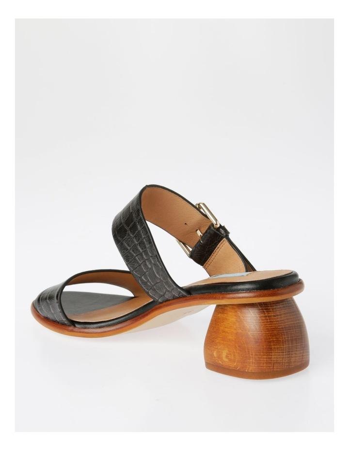 Bella Black Leather Sandal image 3