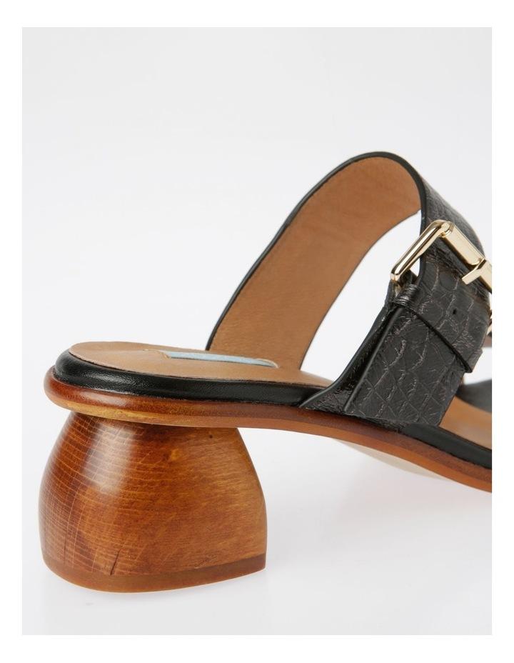 Bella Black Leather Sandal image 4