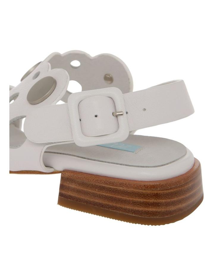Stella White Leather Sandal image 4
