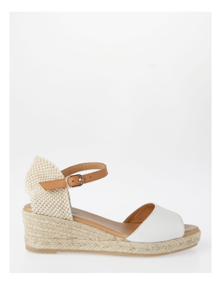 Serenity White Leather Sandal image 1
