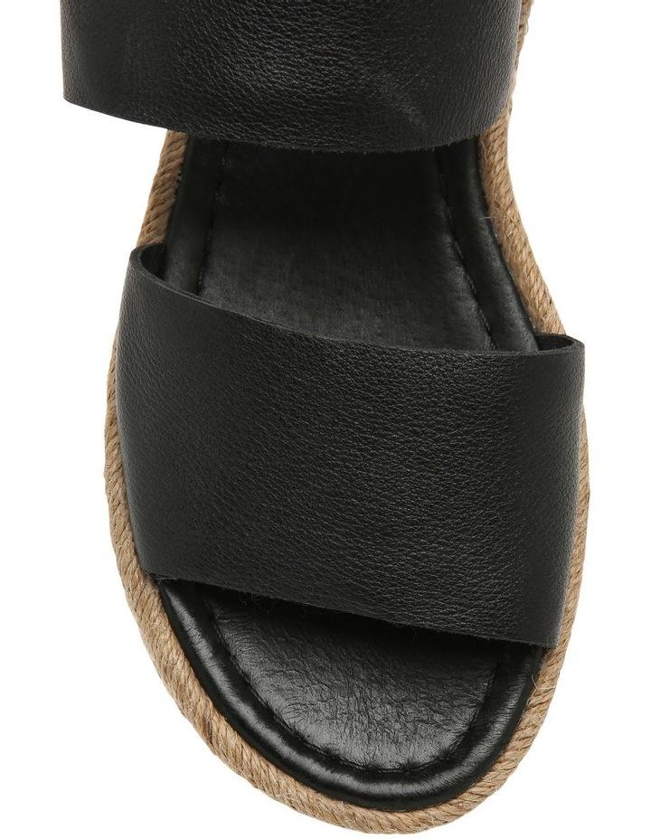 Aria Black Leather Sandal image 2