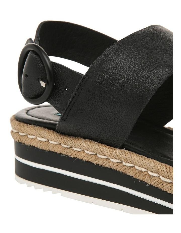 Aria Black Leather Sandal image 4