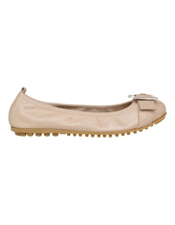 9c4223b3ff8 Zazou Spirit Nude leather Flat