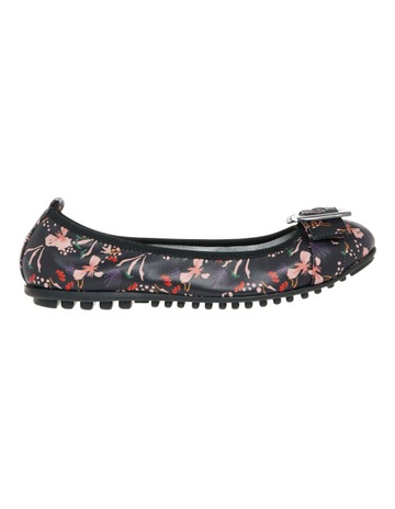 e0189e89b04b Limited stock. ZazouSpirit Black Floral Leather Flat