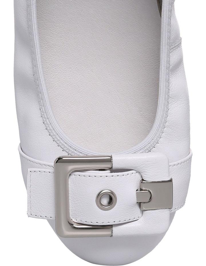 Spirit White Leather Flat image 3