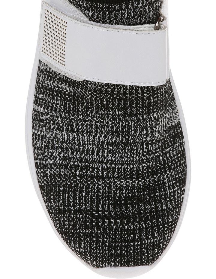 Rush Black/White Knit Sneaker image 3