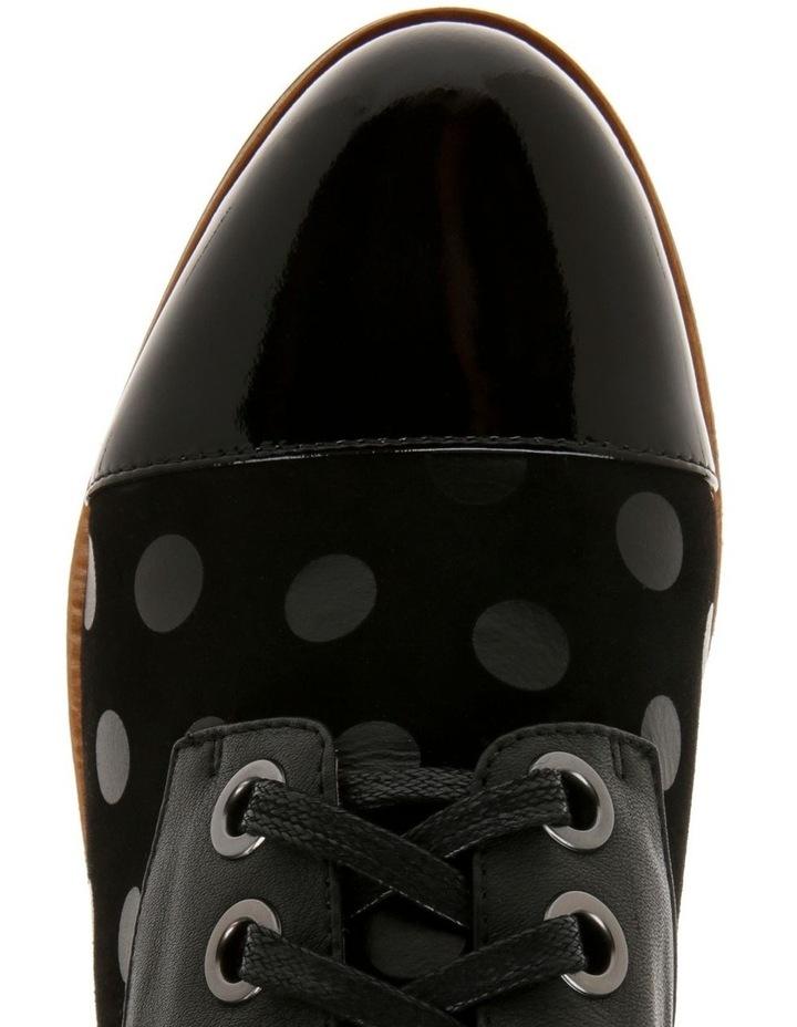 Amica Black Leather Flat image 3