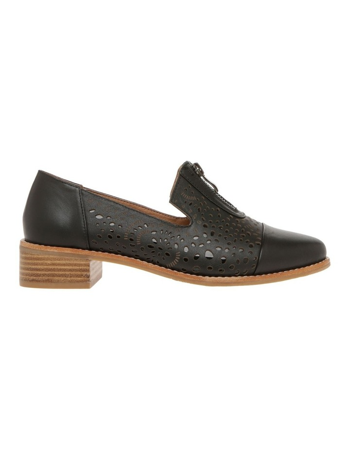 Abbey Black Leather Flat image 1