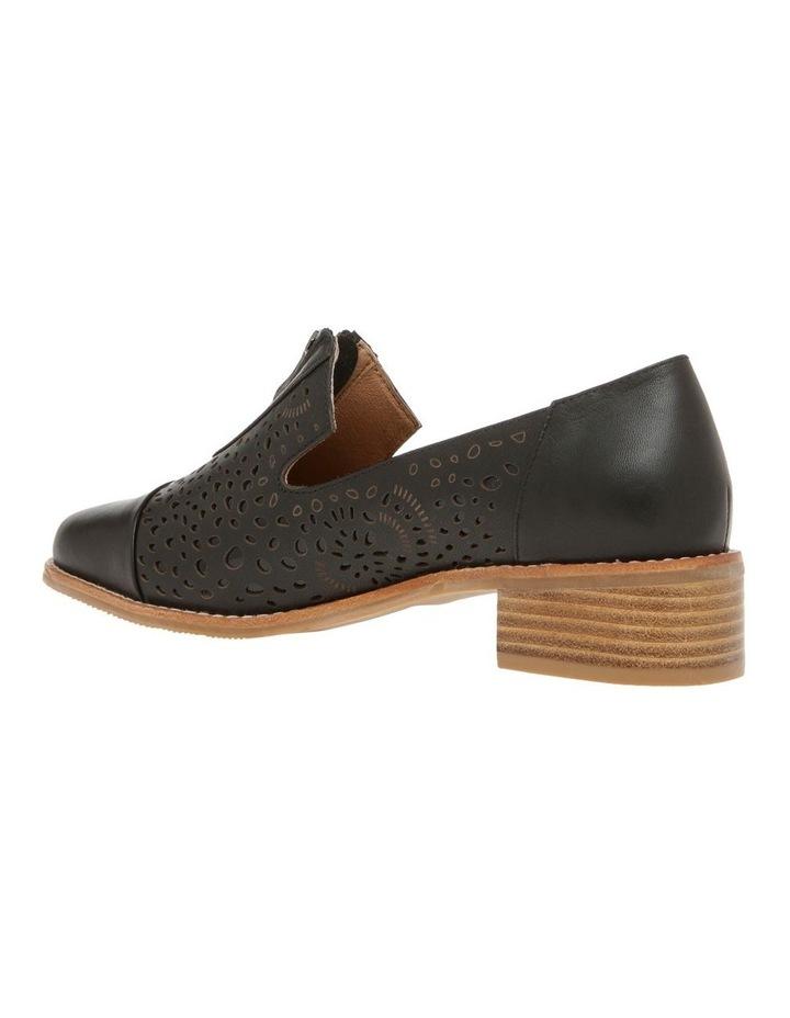 Abbey Black Leather Flat image 2