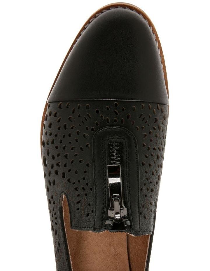 Abbey Black Leather Flat image 3