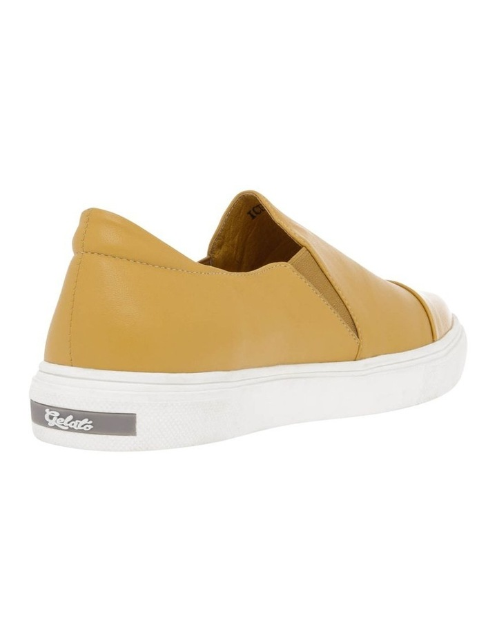 Izzy Mustard Leather Sneaker image 2