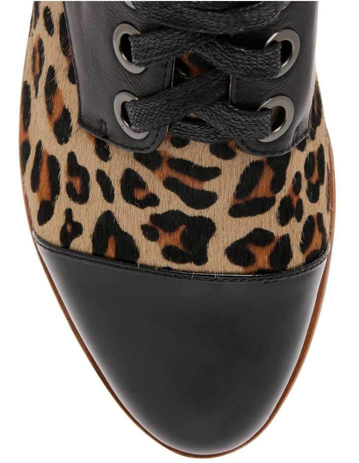 Amica Leopard Print Leather Flat image 3