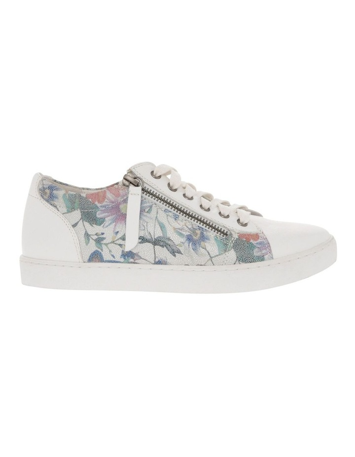 Zia White Floral Leather Sneaker image 1