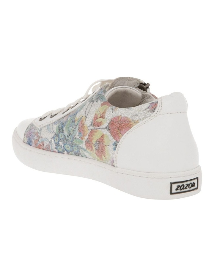 Zia White Floral Leather Sneaker image 2