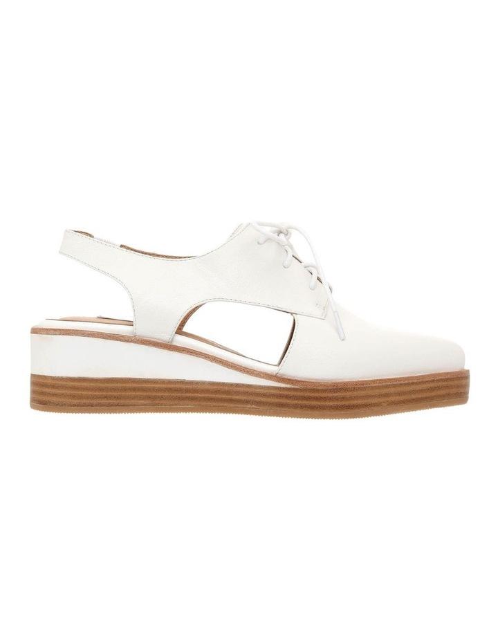 Splendor White Leather Flat image 1