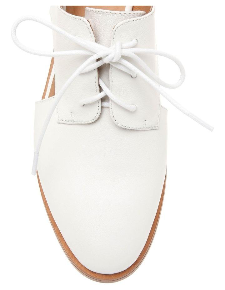 Splendor White Leather Flat image 3