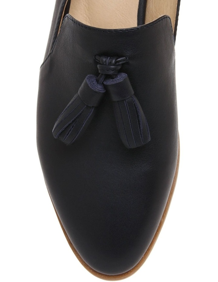 Adelaide Navy Leather Flat image 3
