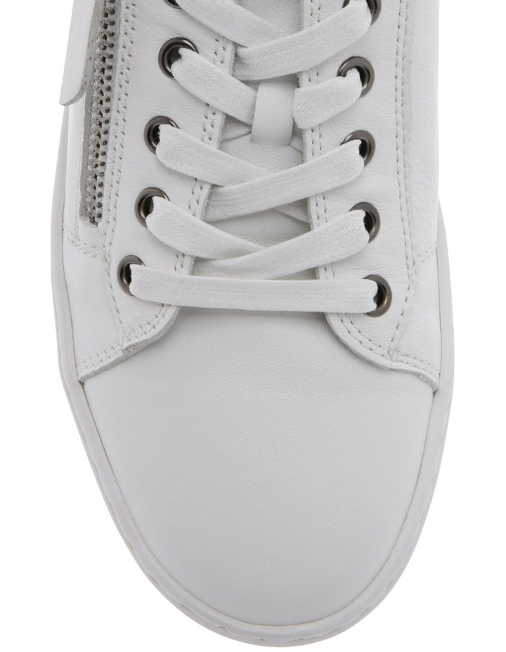 Zia White Leather Sneaker image 3
