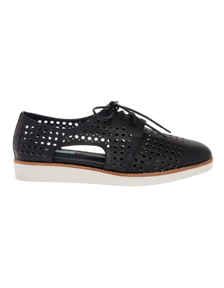 Molly Navy Leather Flat image 1