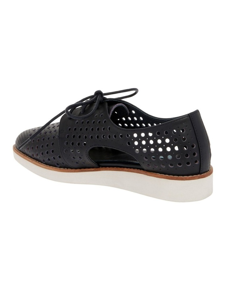 Molly Navy Leather Flat image 3