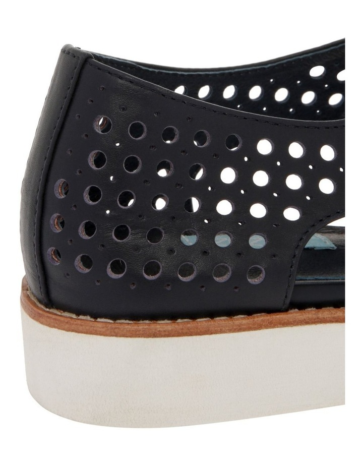 Molly Navy Leather Flat image 4
